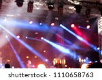 concert stage with blurred... | Shutterstock . vector #1110658763