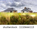 bungalow's in a rural setting. | Shutterstock . vector #1110666113