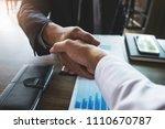 two business partnership... | Shutterstock . vector #1110670787