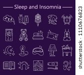 sleep and insomnia line icons... | Shutterstock .eps vector #1110676823