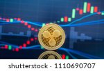 ripple  xrp  and cryptocurrency ...   Shutterstock . vector #1110690707