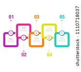 simple business info graphics | Shutterstock .eps vector #1110718037