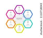 simple business info graphics | Shutterstock .eps vector #1110718043