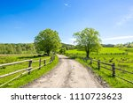 country landscape  farm field... | Shutterstock . vector #1110723623
