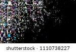 glitch background. grunge...   Shutterstock .eps vector #1110738227
