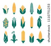 corn cobs vector icons for... | Shutterstock .eps vector #1110751253