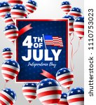 4th of july poster template.... | Shutterstock .eps vector #1110753023