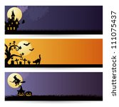 halloween background | Shutterstock .eps vector #111075437