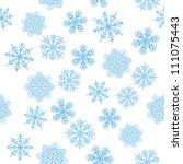 snowflakes seamless  christmas... | Shutterstock . vector #111075443