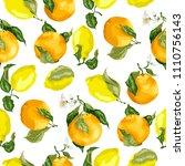juicy citrus fruits in a...   Shutterstock .eps vector #1110756143