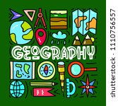 geograpy. subject concept... | Shutterstock .eps vector #1110756557