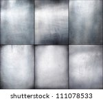 Set metal plate steel background. Hi res - stock photo