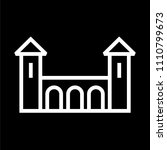 castle building icon lined... | Shutterstock .eps vector #1110799673