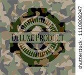 deluxe product on camo texture | Shutterstock .eps vector #1110808247