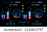 futuristic control board with... | Shutterstock . vector #1110813797