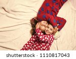 pajama party. happy childhood ... | Shutterstock . vector #1110817043