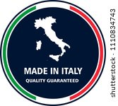 made in italy quality stamp.... | Shutterstock .eps vector #1110834743