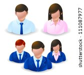 people icons   user group... | Shutterstock .eps vector #111087977