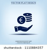 money  coins  stateroom vector... | Shutterstock .eps vector #1110884357