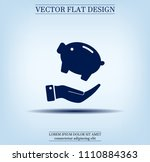 piggy bank vector icon. | Shutterstock .eps vector #1110884363
