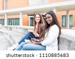 group multi ethnic young...   Shutterstock . vector #1110885683