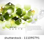 eps10 vector hexagon pattern background - stock vector