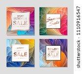 design templates for flyers ... | Shutterstock .eps vector #1110916547