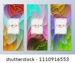 design templates for flyers ... | Shutterstock .eps vector #1110916553