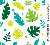 summer leaves pattern | Shutterstock .eps vector #1110926927