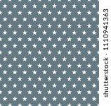 seamless silver star pattern.... | Shutterstock .eps vector #1110941363
