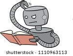 ai deep learning  cute robot... | Shutterstock .eps vector #1110963113
