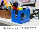 recycle floppy disk  creative... | Shutterstock . vector #1110976787