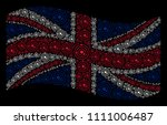 Waving United Kingdom Flag On ...