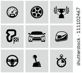 race icons set | Shutterstock .eps vector #111102467