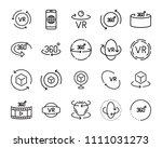 vr vector line icon set  such... | Shutterstock .eps vector #1111031273