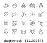 set of fantasy icon  magic... | Shutterstock .eps vector #1111031843