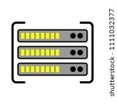 server data racks illustration  ... | Shutterstock .eps vector #1111032377
