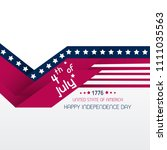 4th of july. usa independence... | Shutterstock .eps vector #1111035563
