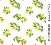 lemon brunches seamless pattern ...   Shutterstock .eps vector #1111047473