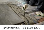 close up shot of the process of ... | Shutterstock . vector #1111061273