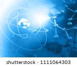 atom with molecules. abstract... | Shutterstock . vector #1111064303