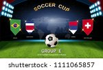 soccer cup 2018  set of... | Shutterstock .eps vector #1111065857