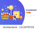investment and growth economy... | Shutterstock .eps vector #1111070723