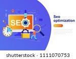 seo optimization modern flat...   Shutterstock .eps vector #1111070753