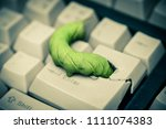 computer security breach due to ... | Shutterstock . vector #1111074383