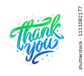 thank you handwritten... | Shutterstock .eps vector #1111082177
