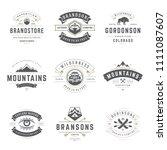 camping logos templates vector... | Shutterstock .eps vector #1111087607