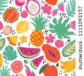 minimal summer trendy vector... | Shutterstock .eps vector #1111093157