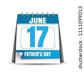 fathers day 2018. desk calendar ... | Shutterstock .eps vector #1111099013
