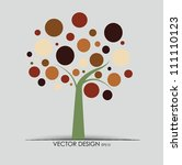 Abstract Tree. Vector...